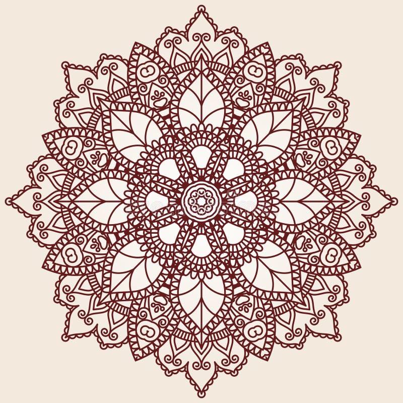 Configuration ronde ornementale de lacet illustration stock