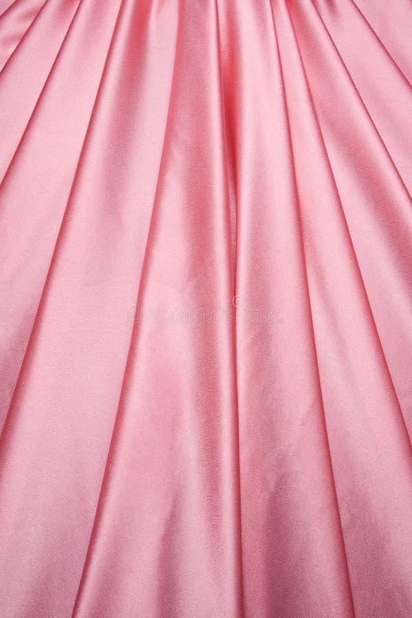 Configuration rose de rideau en satin images libres de droits