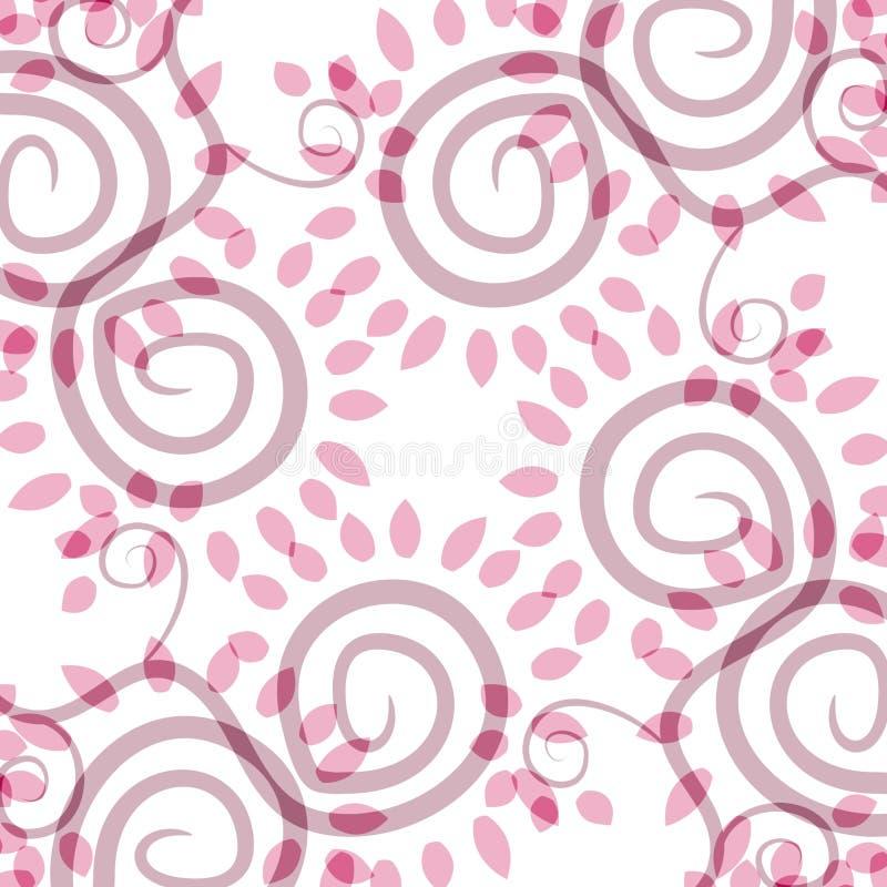 Configuration rose opaque de spirales illustration libre de droits