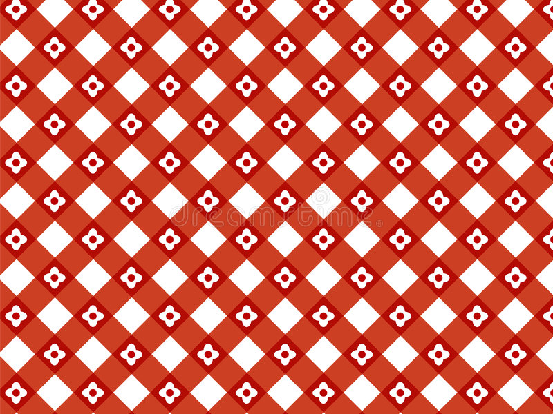 Configuration rouge de plaid de rétro fleur illustration libre de droits