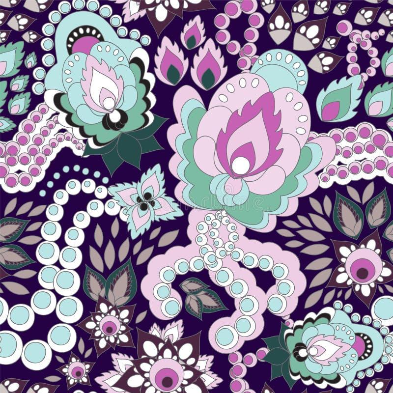 Download Configuration Russe Sans Joint L'orient Ou Conception De Paisley Illust Illustration de Vecteur - Illustration du floral, culture: 56488424