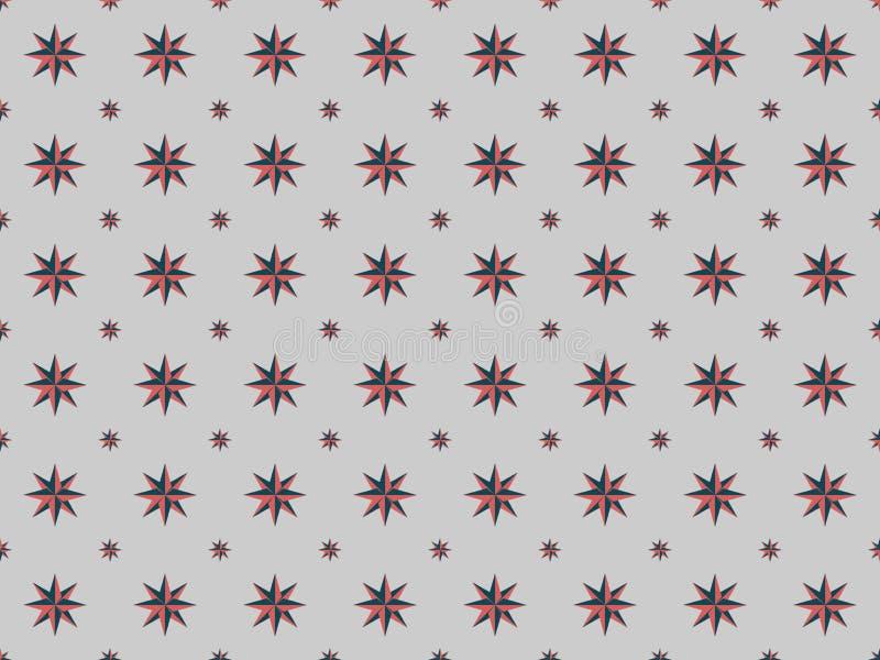 Configuration sans joint Étoile abstraite sur un fond gris Vecteur illustration stock