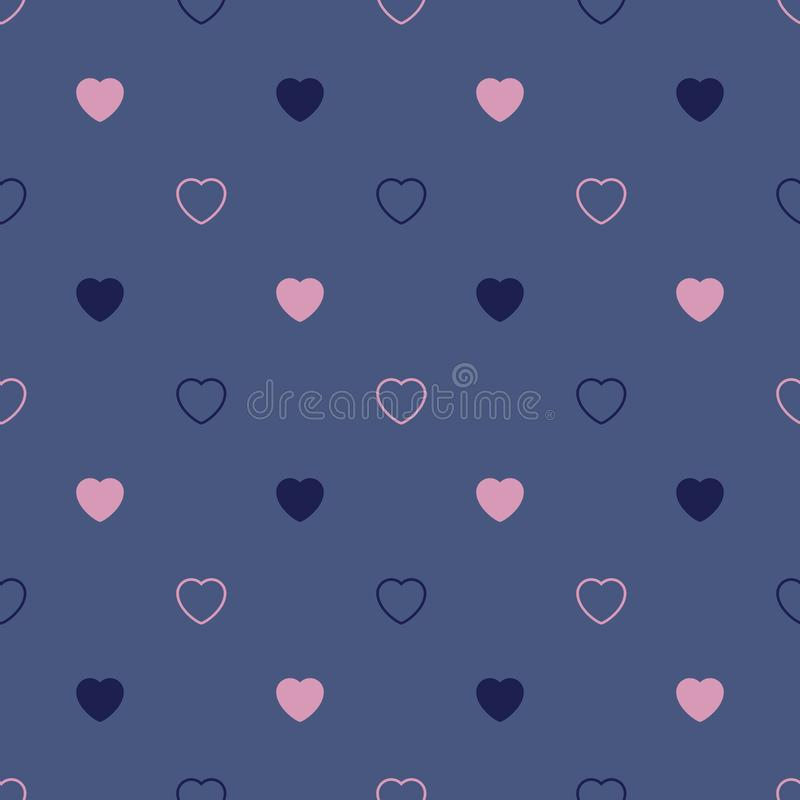 Configuration sans joint abstraite avec des coeurs Jour de Valetines, anniversaire o image stock