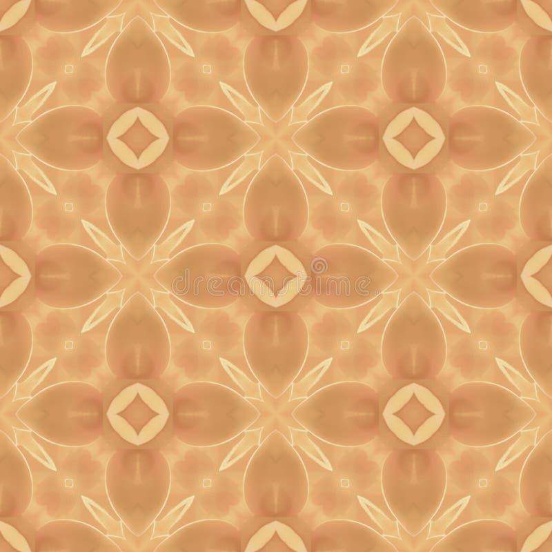 Configuration sans joint abstraite brun clair de répétition illustration de vecteur