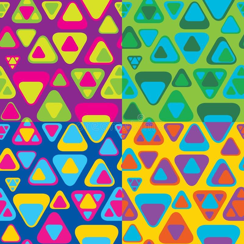 Configuration sans joint abstraite colorée illustration de vecteur