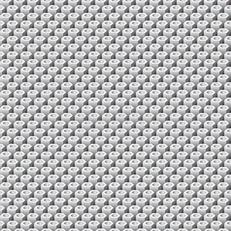 Configuration sans joint abstraite de vecteur d'hexagones illustration libre de droits