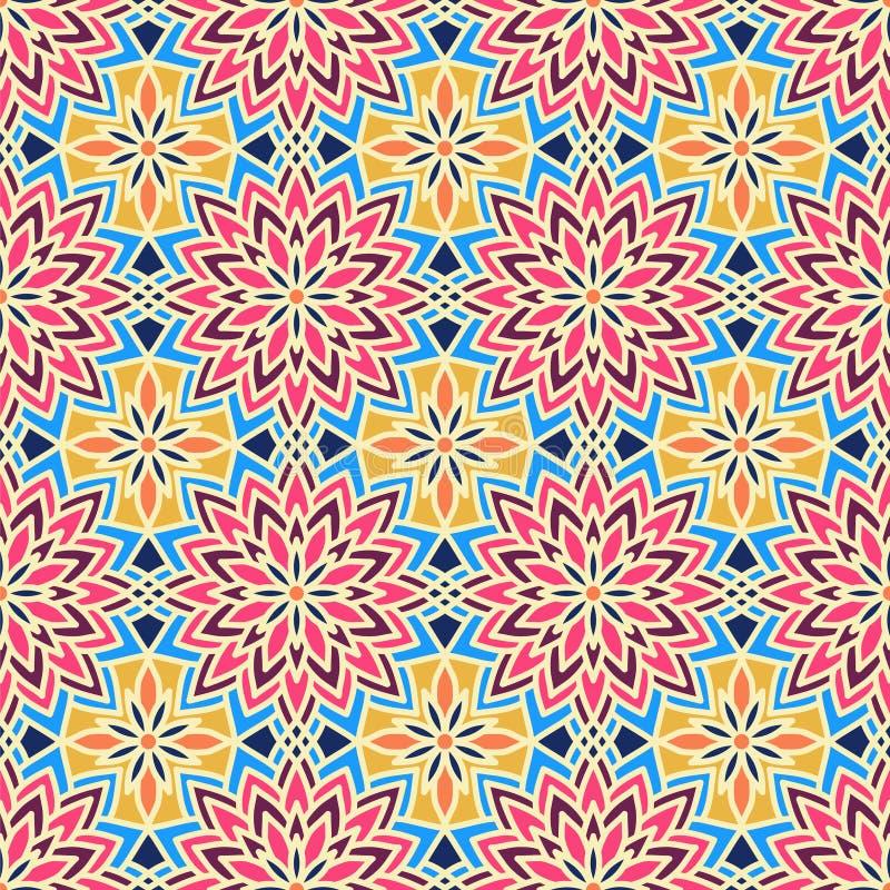 Configuration sans joint abstraite de vecteur Vintage Ornamen est géométrique illustration libre de droits