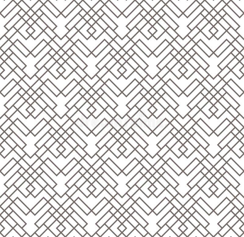 Configuration sans joint abstraite géométrique Fond linéaire de motif illustration de vecteur