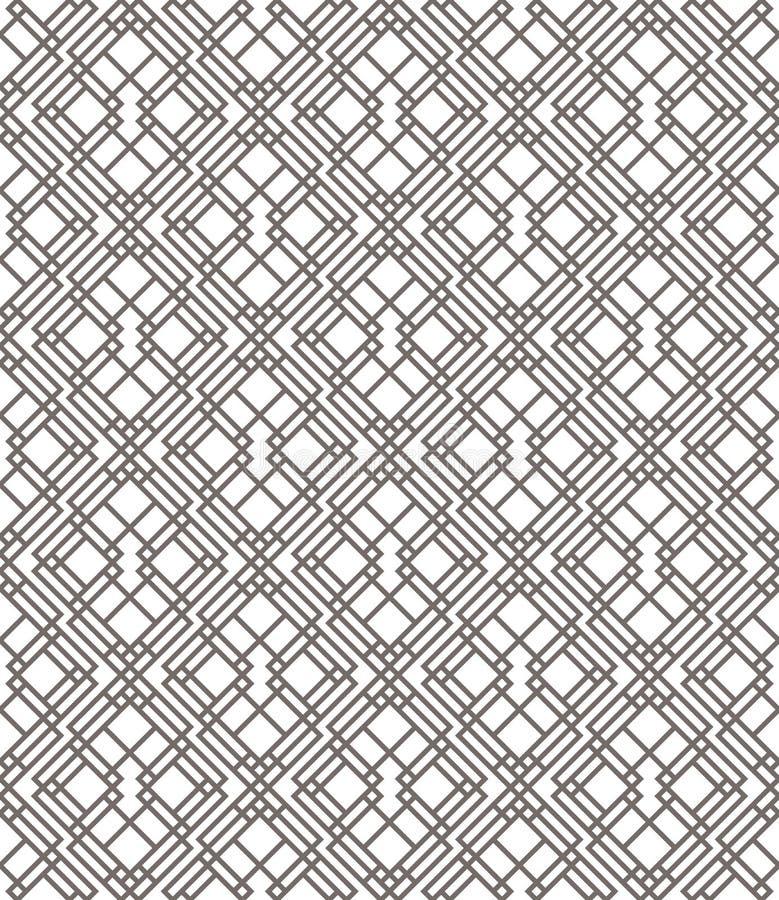Configuration sans joint abstraite géométrique Fond linéaire de motif illustration libre de droits