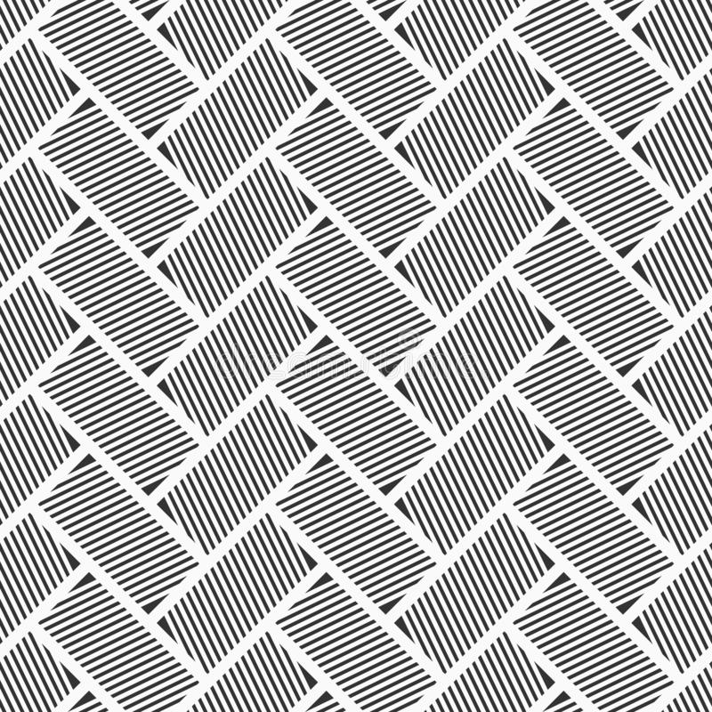 Configuration sans joint abstraite Rectangles rayés Texture en arête de poisson Disposition diagonale Répétition des tuiles géomé illustration de vecteur