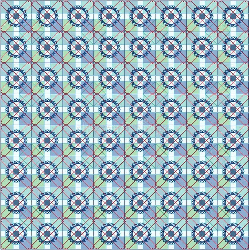 Configuration sans joint arabe Ornements orientaux de style de mosaïque Vecteur illustration libre de droits