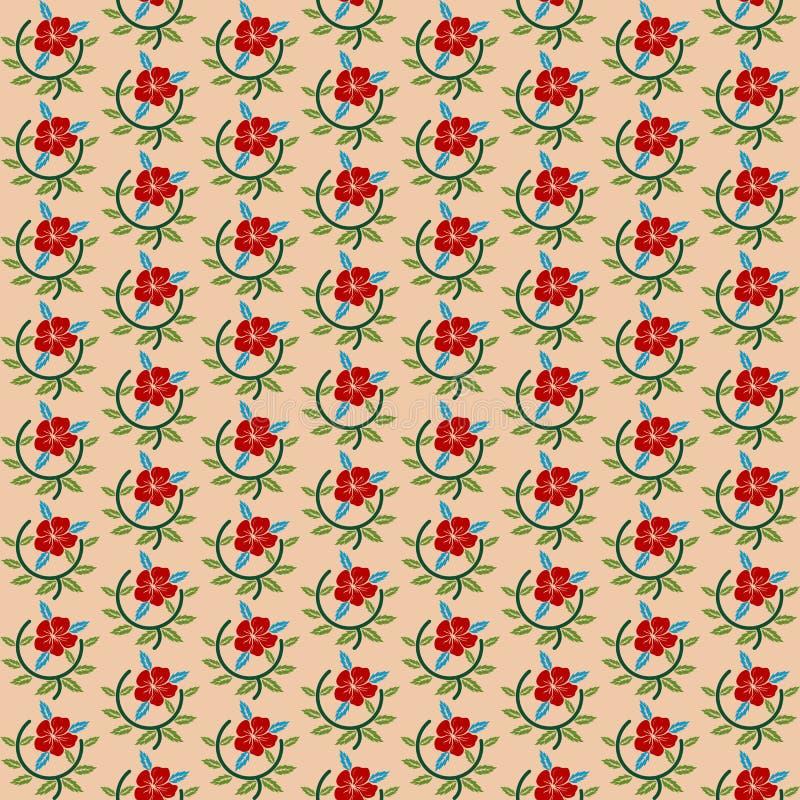 Configuration sans joint avec de belles fleurs illustration de vecteur