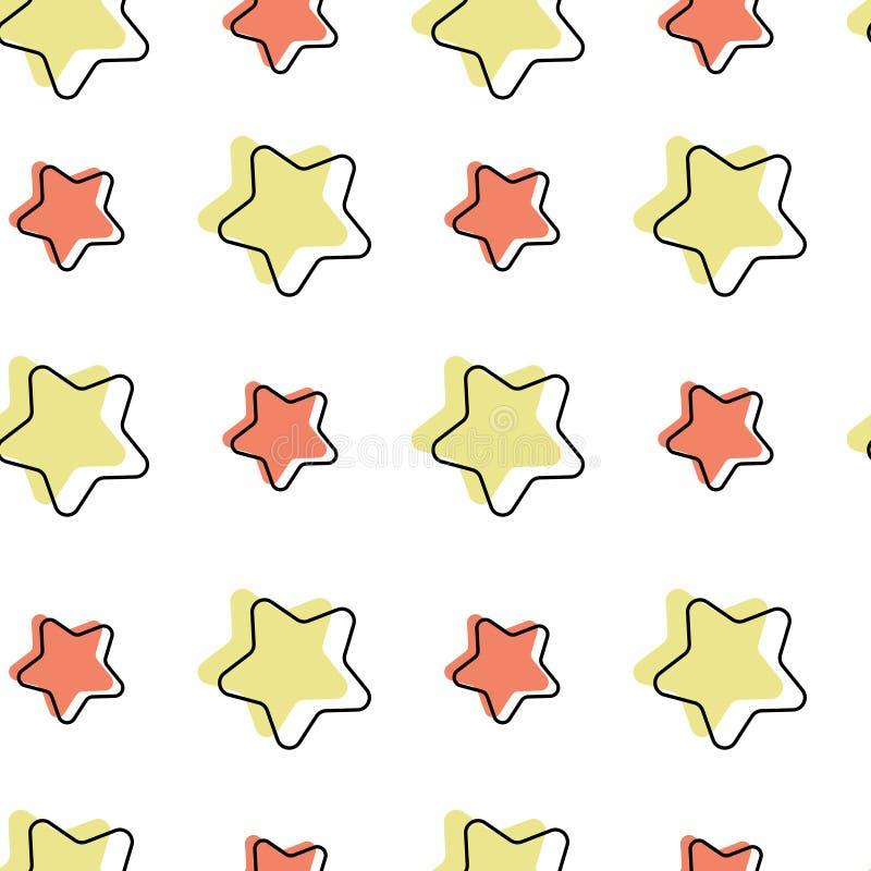 Configuration sans joint avec des étoiles de dessin animé illustration de vecteur