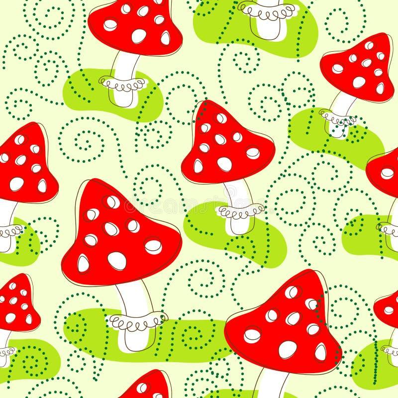 Configuration sans joint avec des champignons de couche illustration libre de droits