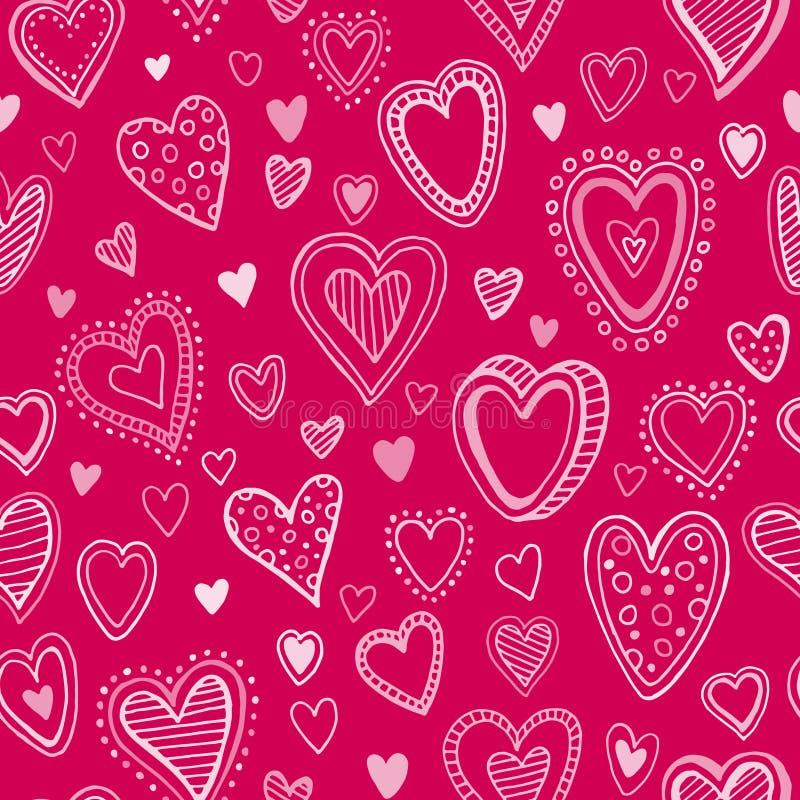 Configuration sans joint avec des coeurs de valentine Vecteur illustration de vecteur
