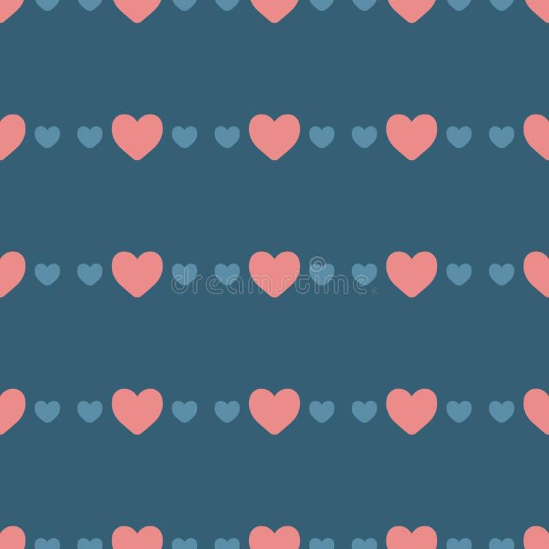 Configuration sans joint avec des coeurs Fond mignon dans des couleurs à la mode images stock