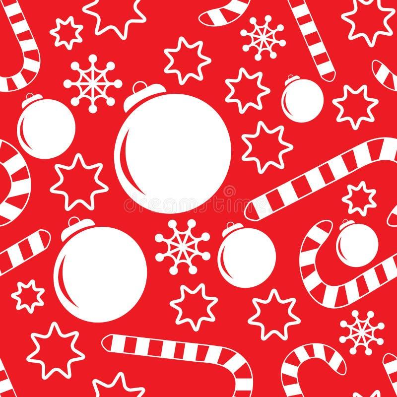 Configuration sans joint avec des décorations de Noël illustration stock