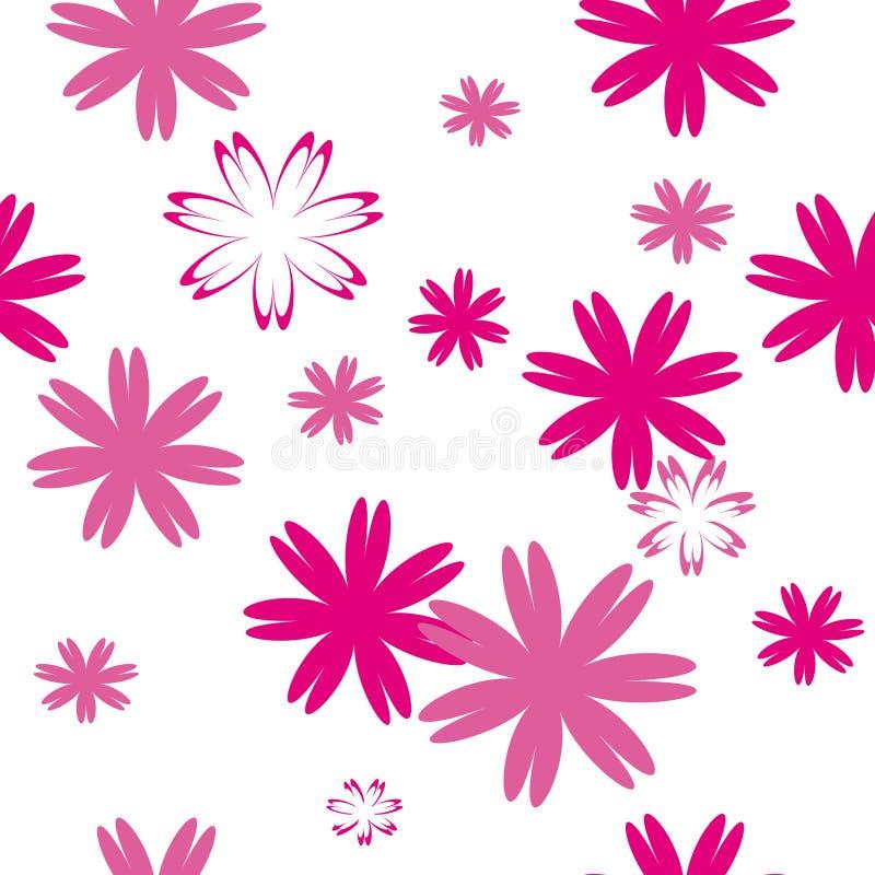 Configuration sans joint avec des fleurs illustration de vecteur