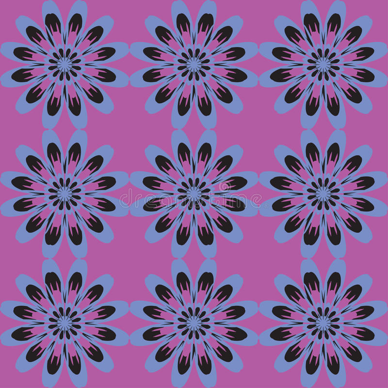 Configuration sans joint avec des fleurs Texture de cru Contexte monochrome illustration stock