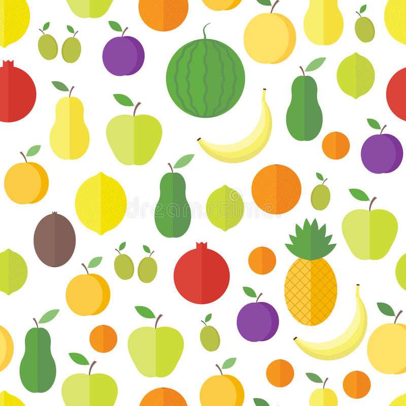 Configuration sans joint avec des fruits et des baies Fond de vecteur illustration stock