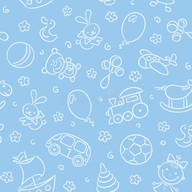 Configuration sans joint avec des jouets illustration stock