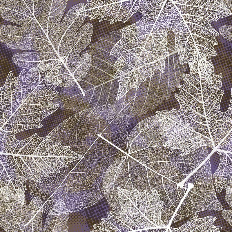 Configuration sans joint avec des lames d'automne Vecteur, eps10 illustration stock