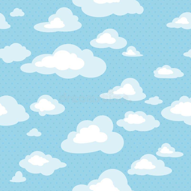 Configuration sans joint avec des nuages illustration libre de droits