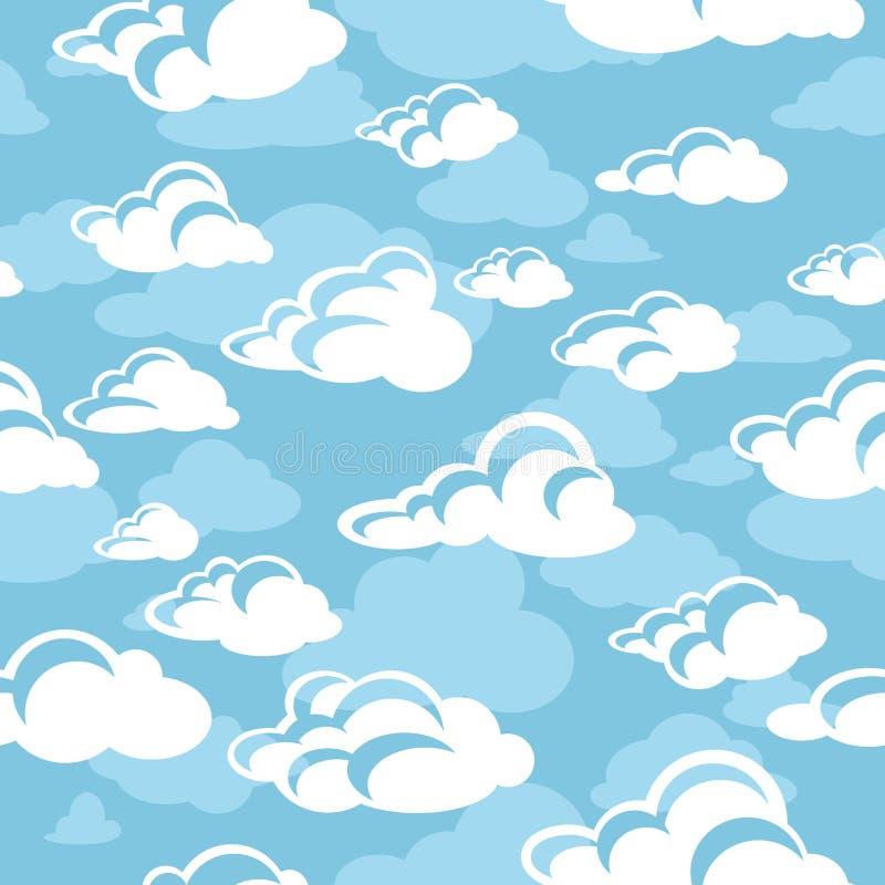 Configuration sans joint avec des nuages illustration stock