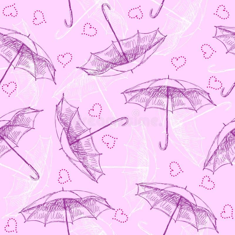 Configuration sans joint avec des parapluies illustration libre de droits