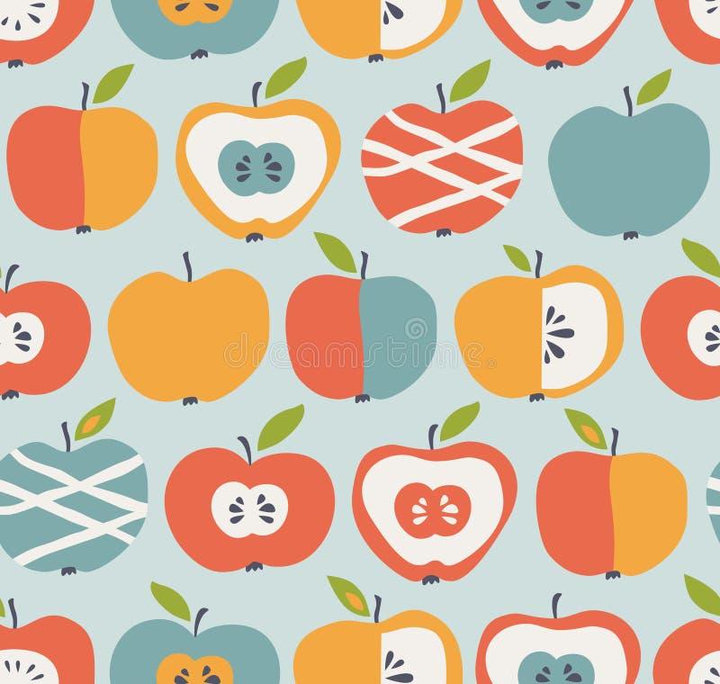 Configuration sans joint avec des pommes illustration libre de droits