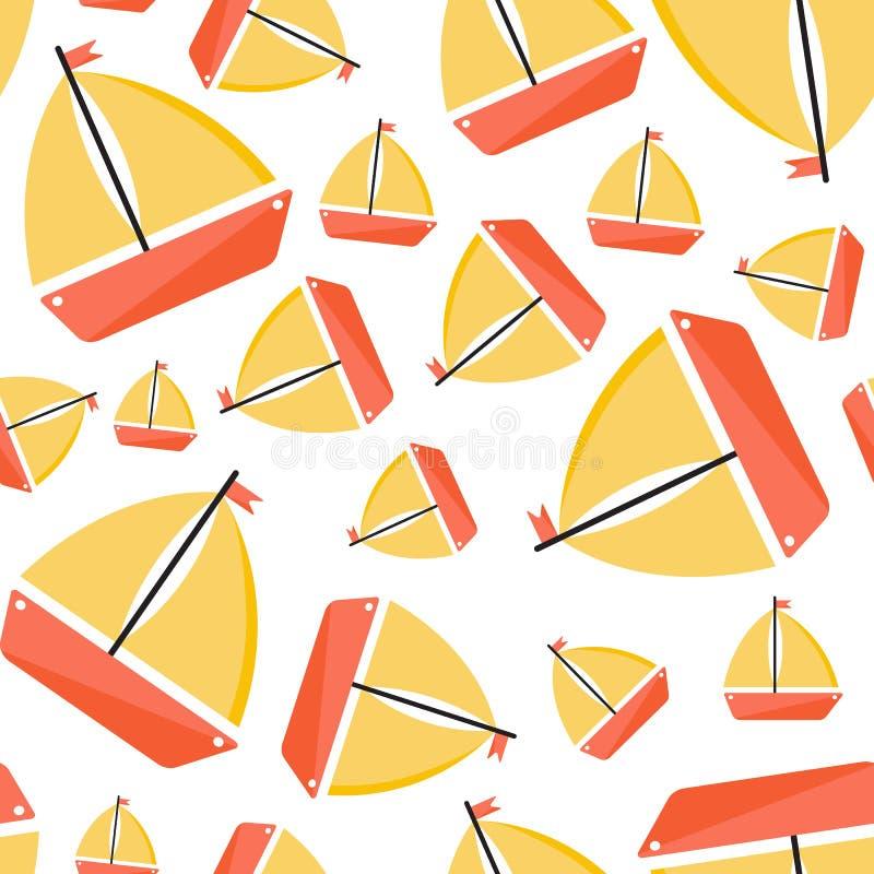 Configuration sans joint avec le bateau Type de dessin anim? illustration libre de droits