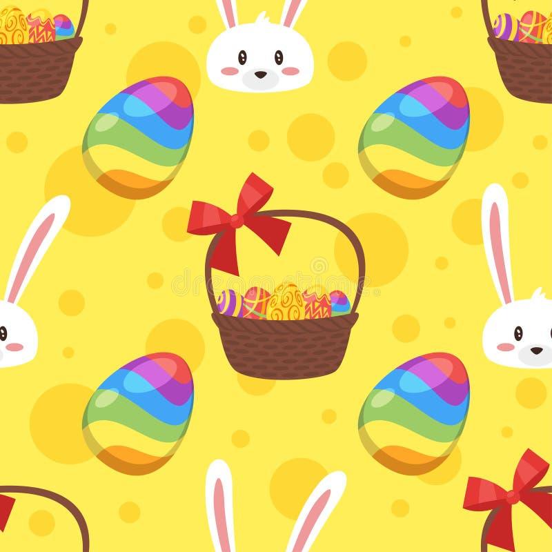 Configuration sans joint avec le lapin de Pâques illustration stock