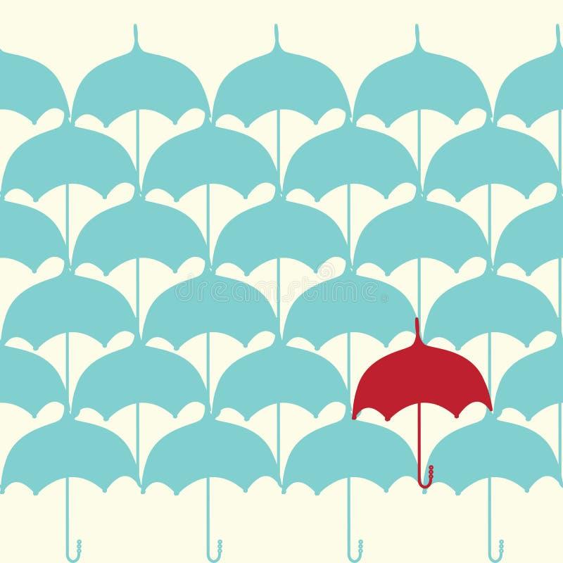 Configuration sans joint avec le parapluie illustration de vecteur