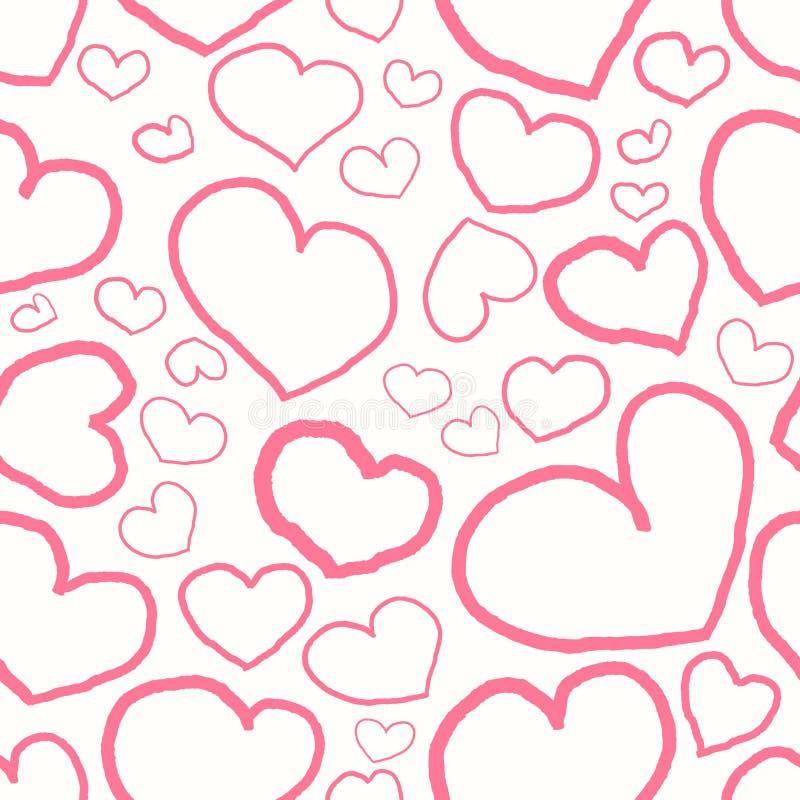 Configuration sans joint avec les coeurs roses illustration libre de droits