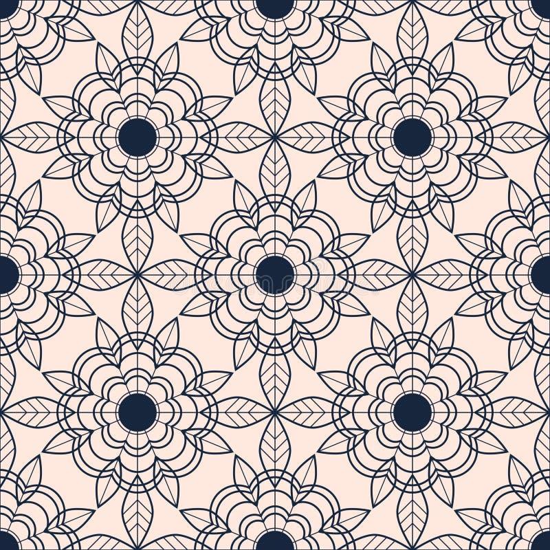 Configuration sans joint avec les fleurs abstraites illustration de vecteur