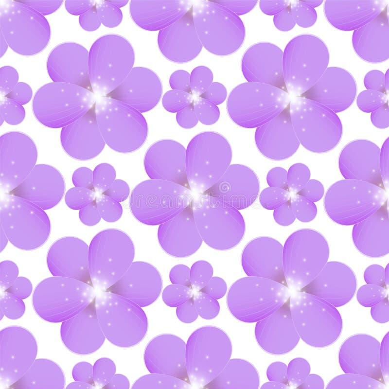Configuration sans joint avec les fleurs pourprées illustration stock