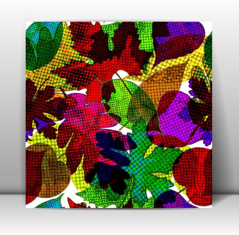 Configuration sans joint avec les lames colorées Vecteur illustration libre de droits