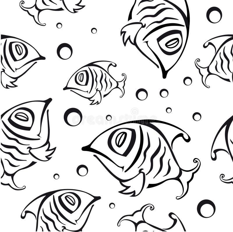 Configuration sans joint avec les poissons abstraits illustration libre de droits