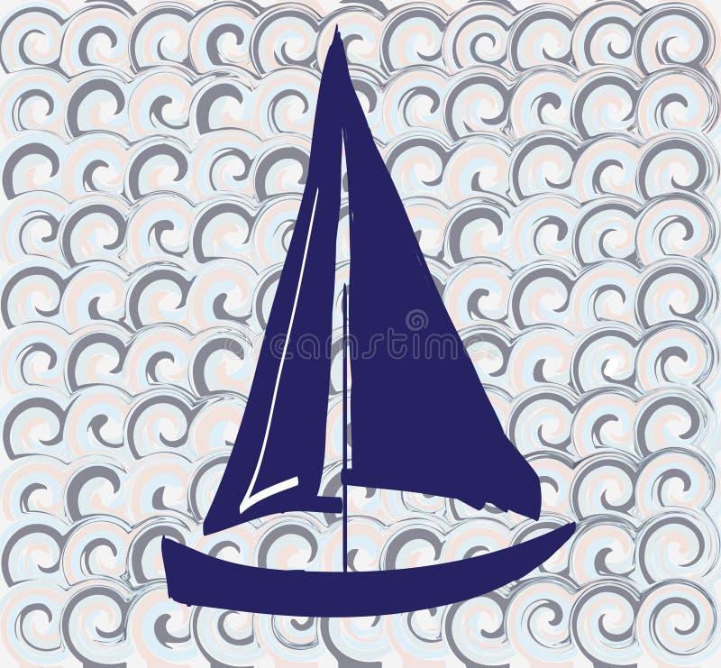Configuration sans joint avec un bateau illustration stock