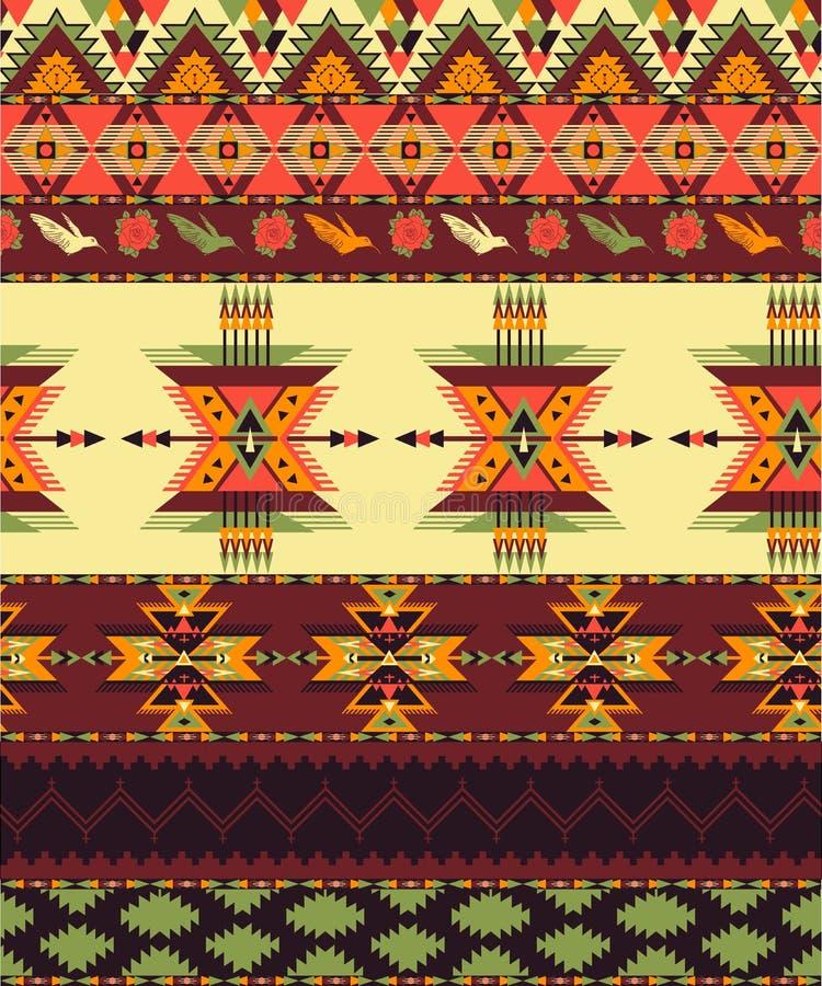Configuration sans joint aztèque illustration de vecteur
