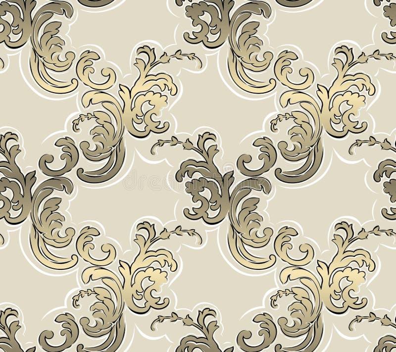 Configuration sans joint baroque illustration libre de droits