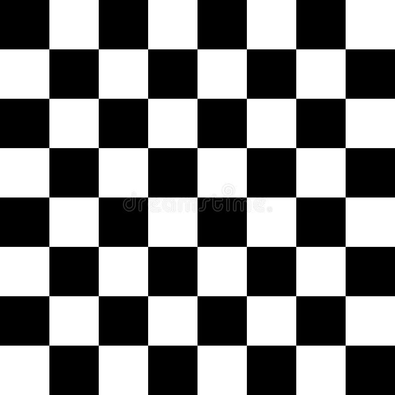 Configuration sans joint Checkered Papier peint abstrait, fond parquetant noir et blanc de texture de modèle d'illusion grands do illustration de vecteur