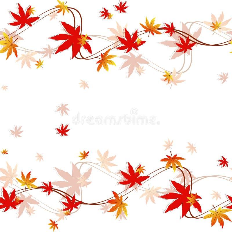 Configuration sans joint colorée de lames d'automne images libres de droits