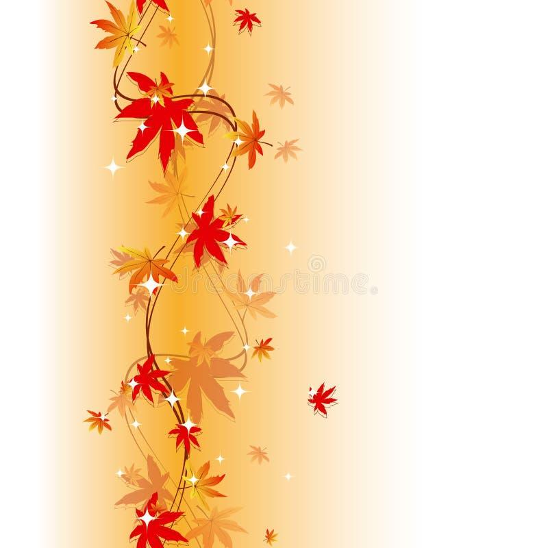 Configuration sans joint colorée de lames d'automne images stock