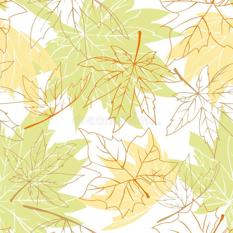 Configuration sans joint colorée de lames d'automne photographie stock