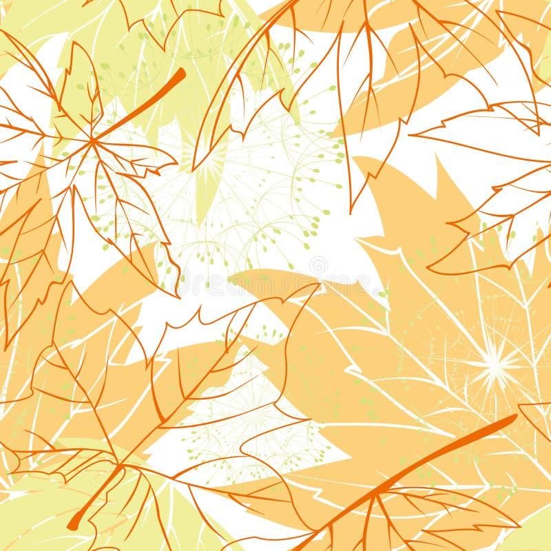 Configuration sans joint colorée de lames d'automne image stock