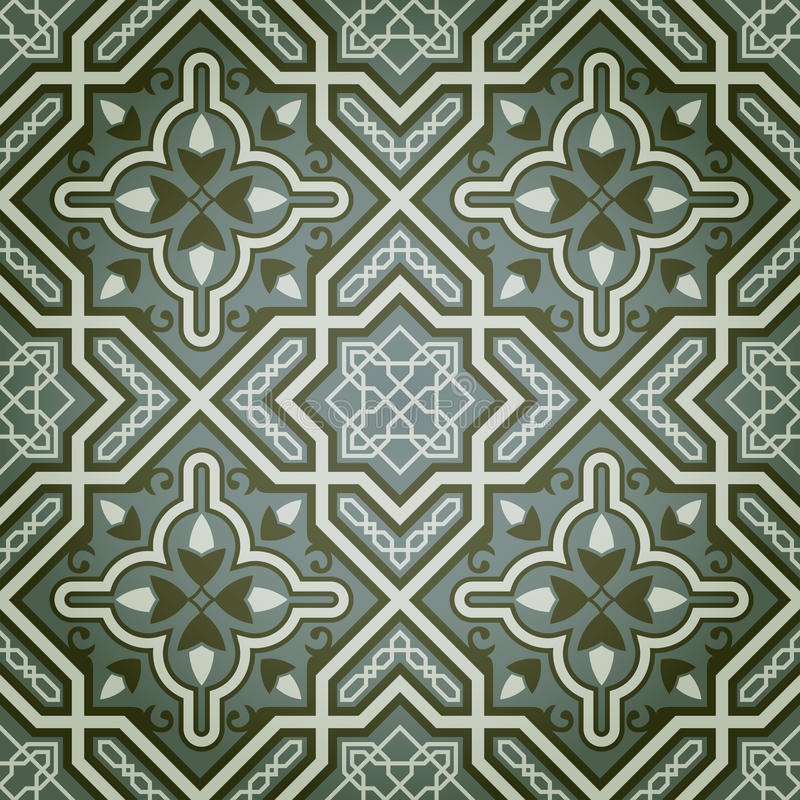 Configuration sans joint décorative géométrique de peinture à l'huile illustration de vecteur