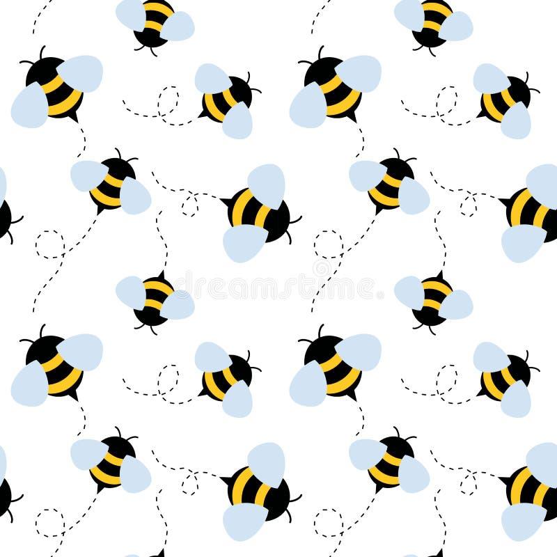 Configuration sans joint d'abeille Vecteur de miel illustration de vecteur