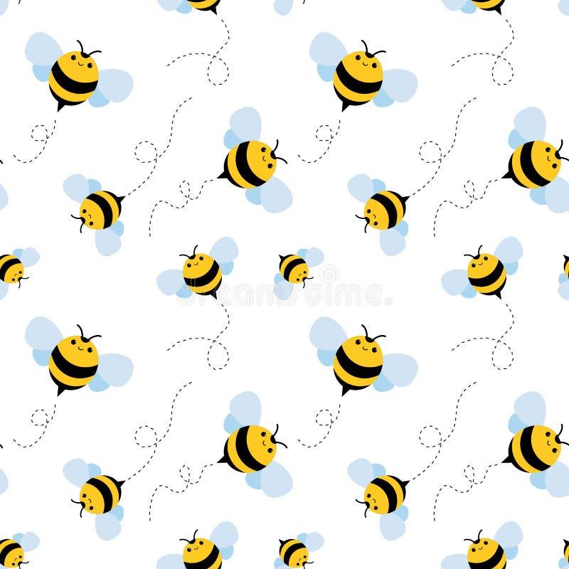 Configuration sans joint d'abeille Vecteur de miel illustration stock