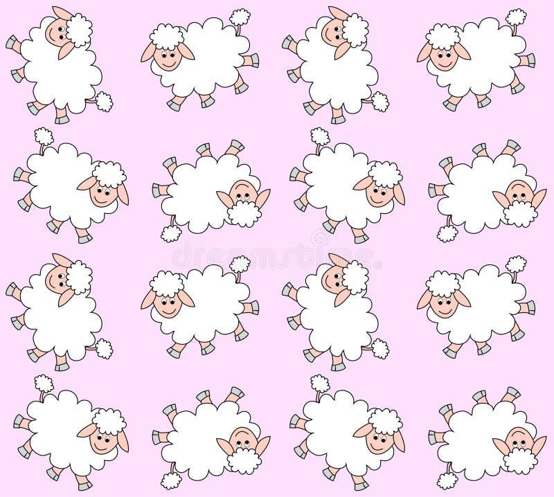 Configuration sans joint d'agneau illustration stock
